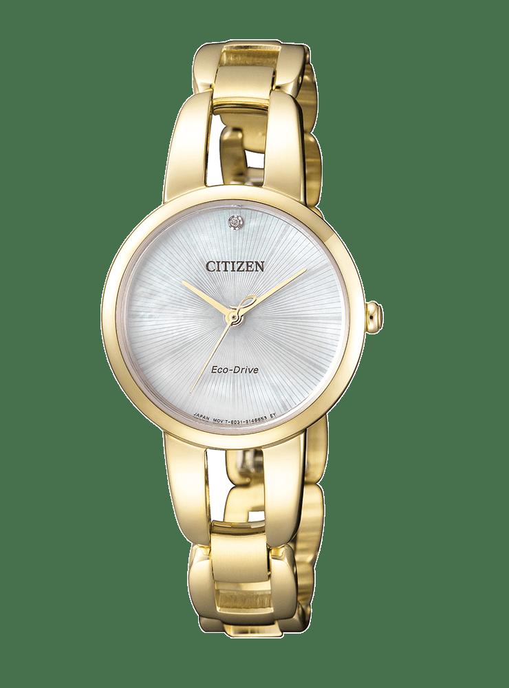 baratas para descuento 80695 ac26f Reloj dorado Citizen diamante Mujer Acero Lady EM0432-80Y