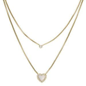 Collar Mujer Acero dorado FOSSIL Jewelry JF03217710